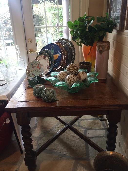 Fabulous antique draw-leaf barley twist dining table