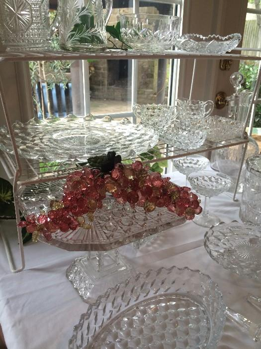 Fostoria and other lovely serving pieces