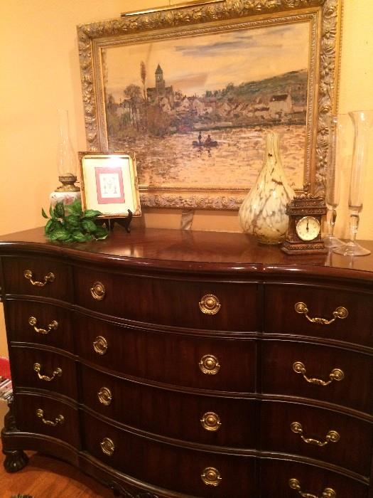 Impressive twelve drawer dresser