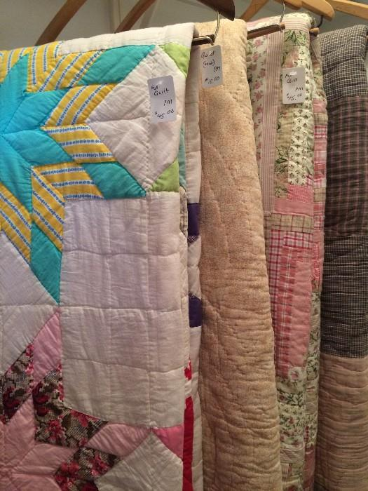 Some of the vintage quilts