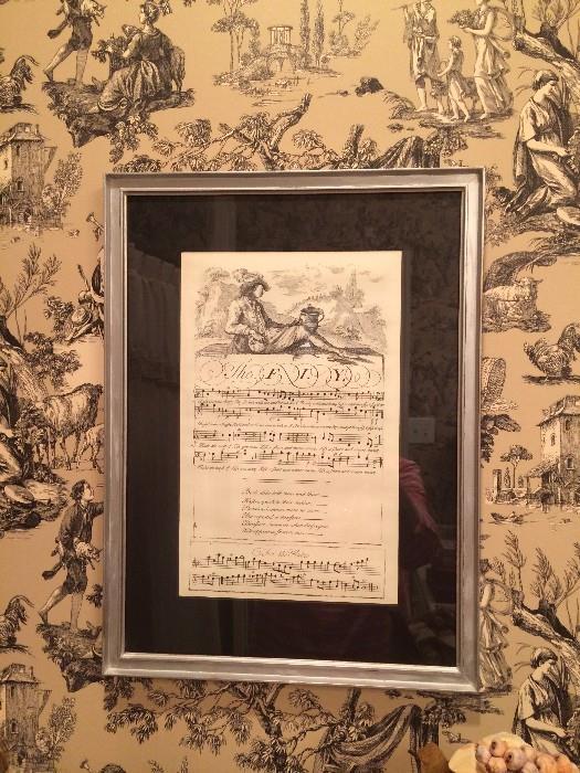 Framed art - musicial theme