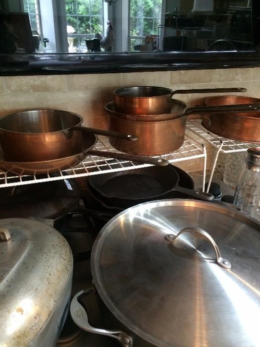 Culinox copper cookware from Switzerland