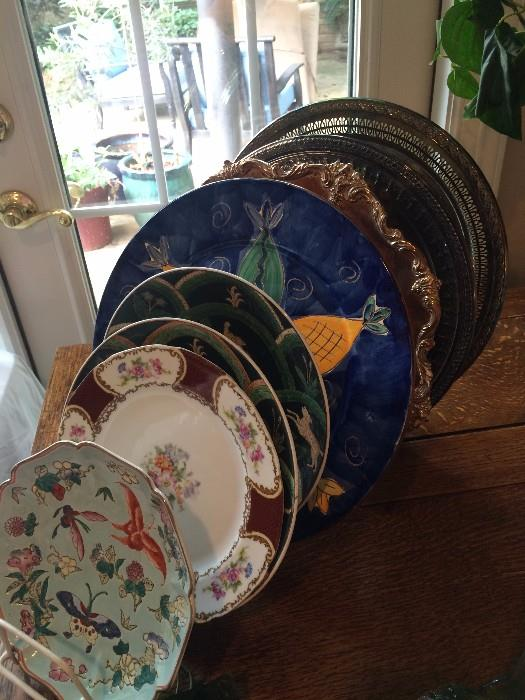 Great selection of decorative plates