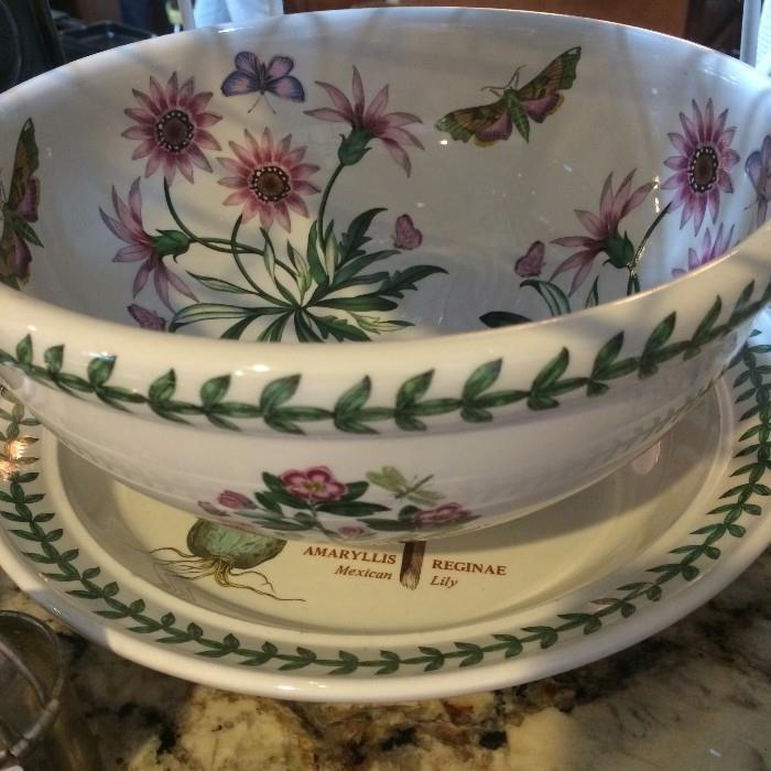 "Portmeirion ""The Botanic Garden"" bowl and underplate"