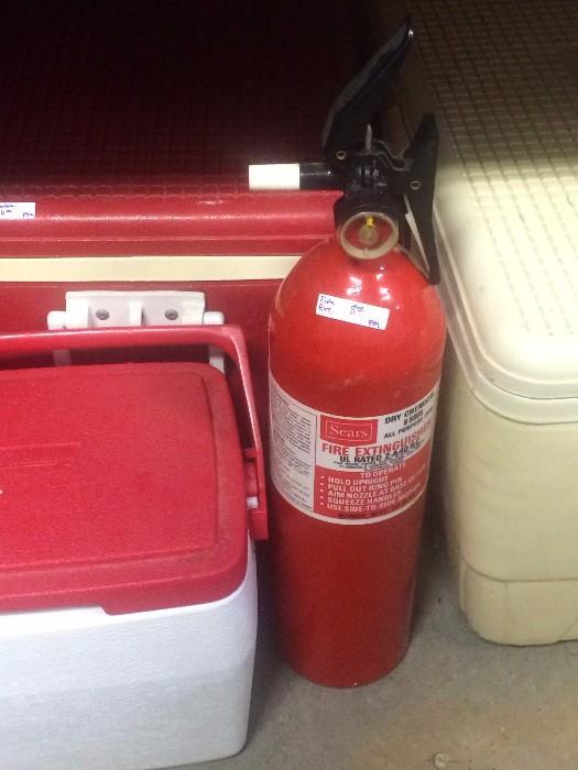 Igloos; fire extinguisher