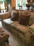 Floral chintz sofa