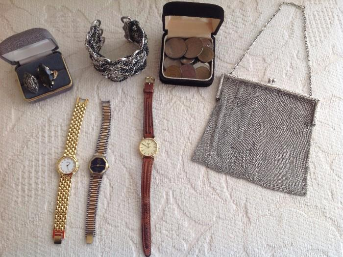 WATCHES, COINS AND JEWELRY