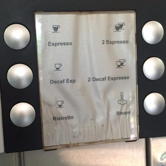 Espresso machine (Off premise-more details at sale)