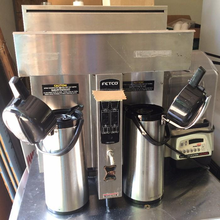 FETCO coffee brewer with pots -  (Off premise-more details at sale)