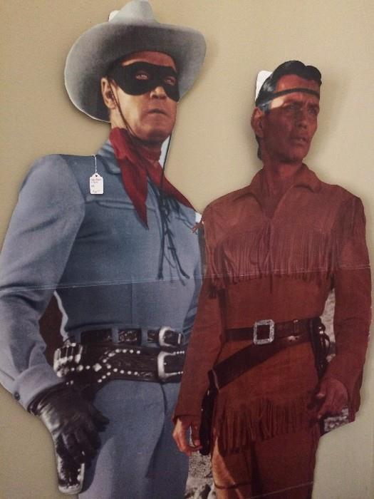 Life size the Lone Ranger and Tonto cut-outs
