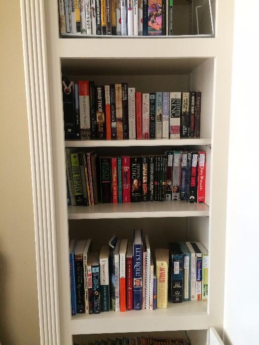 Big amount of books, CD's, videos