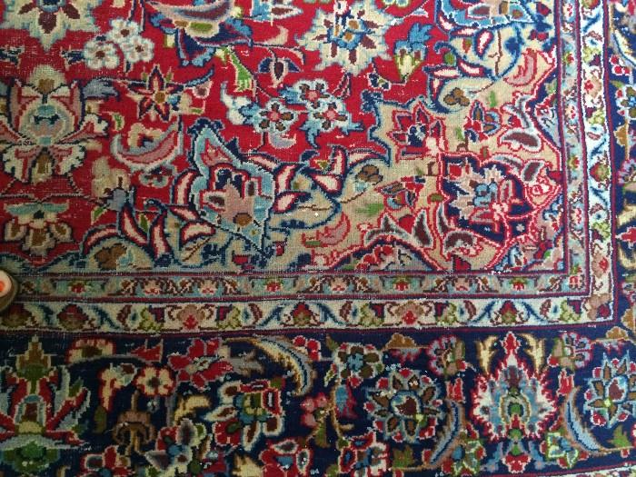 Antique Persian rug - 8 feet 9 inches x 12 feet 3 inches