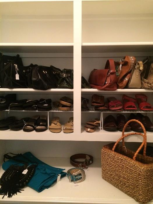 Some of the shoes and purses