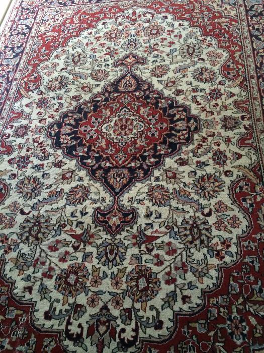 Handmade Agru rug from India 6 feet x 9 feet