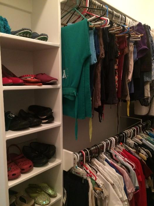 More shoes; lots of clothing