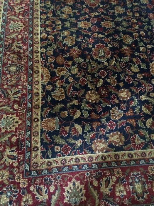 Kashan rug -  9 feet 3 inches x 12 feet 10 inches