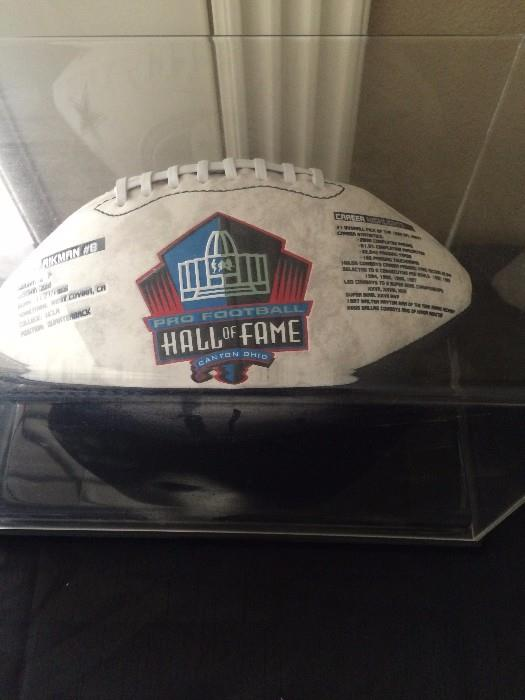 Troy Aikman #8 Hall of Fame collector football