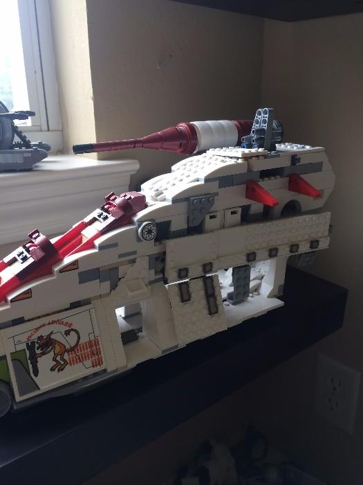 Some of the many legos- (some sets are not complete)