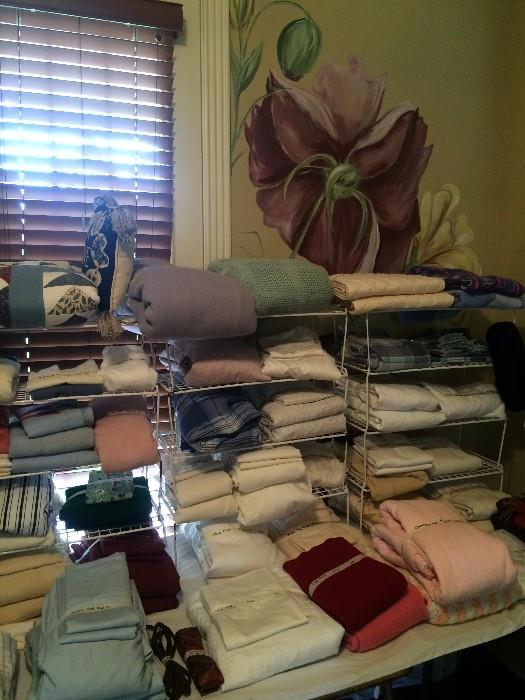 Linens, towels, sheets