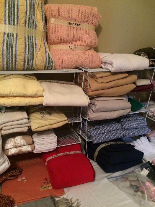 More linens, place mats, blankets
