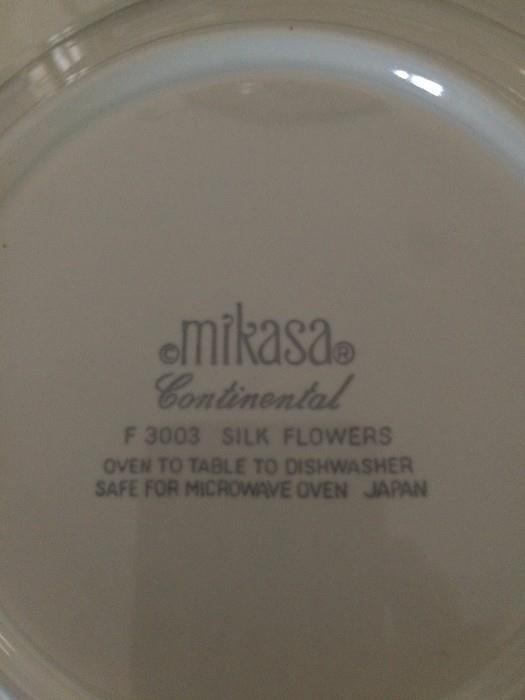 "Mikasa Continental ""Silk Flowers"" dishes"