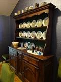 Belgium Oak Hutch Hand crafted. Shipped from Belgium- Is about 50 years old.  All pieces crafted by same gentleman.