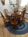 Nice Round Table with Claw Feet, and Six Chairs