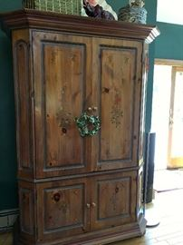 Painted wood armoire