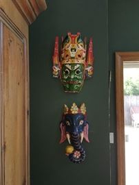 Masks from their world travels!