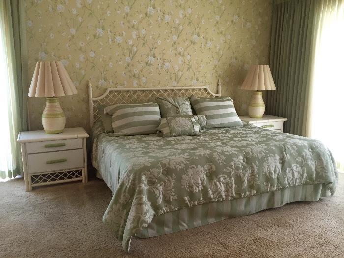 Vintage Bamboo Bedroom Sets
