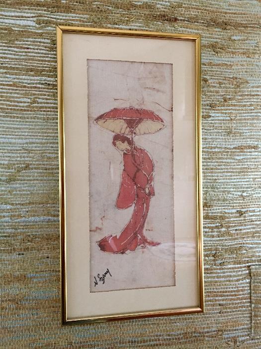 Norma Szary signed batik