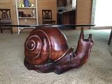 Federico Armijo Wood Carved Snail Table