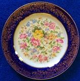 Century by Salem Floral, Cobalt & 22K Gold Plate