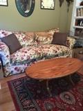 Chintz sofa & oversized chair