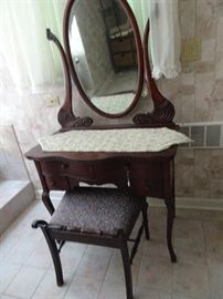 "Vanity with Mirror 36""W X 19""W X 66""H with Mirror"