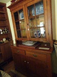 "Antique Cherry Cupboard - 50""W X  21""D X  82""H"