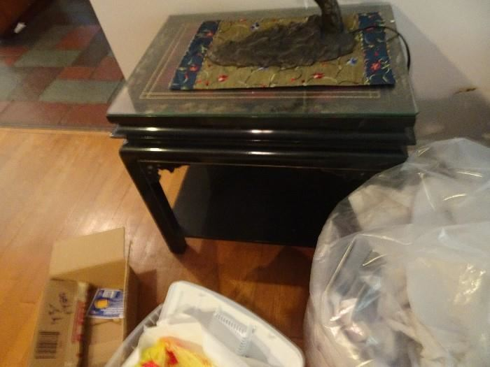 """Asian End Table -One of a Pair - 25""""X 19"""" X  23""""H"""