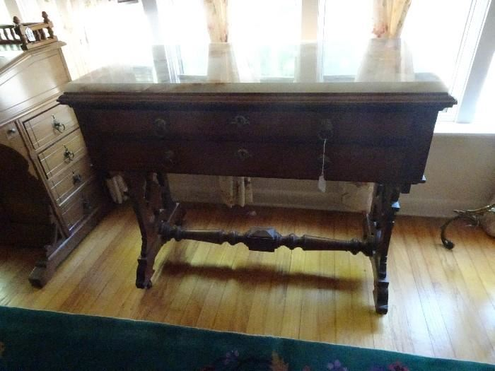 """Marble Top Console Table - 36""""W X 21""""D X 32""""h"""