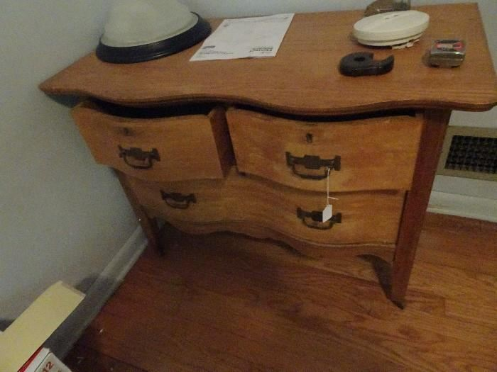 """Oak Chest with Serpentine Front - 38""""W X 20""""D X 27""""H"""