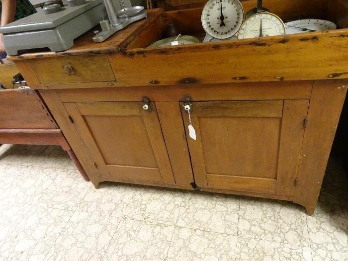 "Old Pine Dry Sink - 50""W X  20""D X 35:H"