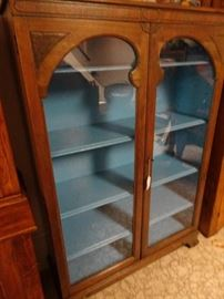 """Glass Enclosed Cabinet - 39""""W X 14""""D X  57""""H"""