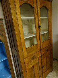 """Oak China Cabinet - 37""""W X  72""""H X 15""""D"""