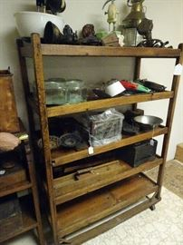 "Old Shoe Rack Shelf - 38""W X 53""H X 17""D"