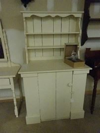 """Painted White Hutch- 38""""W X 23""""D X 64""""H"""