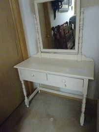 """Painted Vanity with Mirror - 40""""W X 18""""d X 62""""H"""
