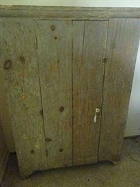 """Primitive Cabinet with Original Paint - 46""""W X 18""""D X 6'H"""