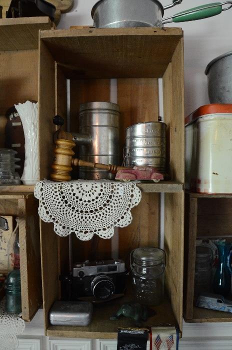 Flour shifters, Atlad jar, Rubber toy car, Lennox Vase