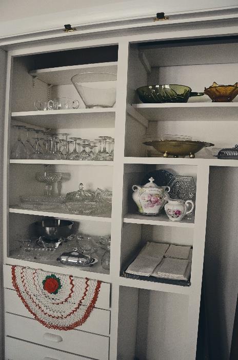 Glassware, R S Prussia Biscuit jar