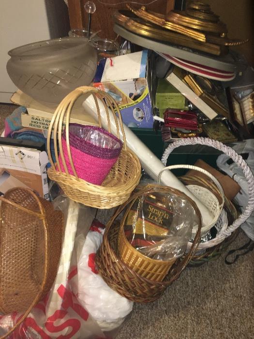 Baskets, basement
