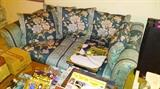 Floral Loveseat Sofa. One of two matching.